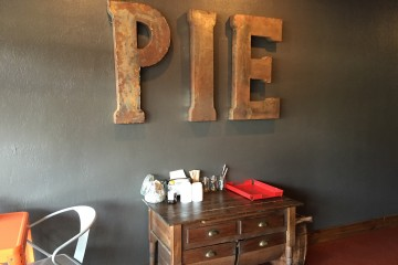 Inside sign at P Is For Pie